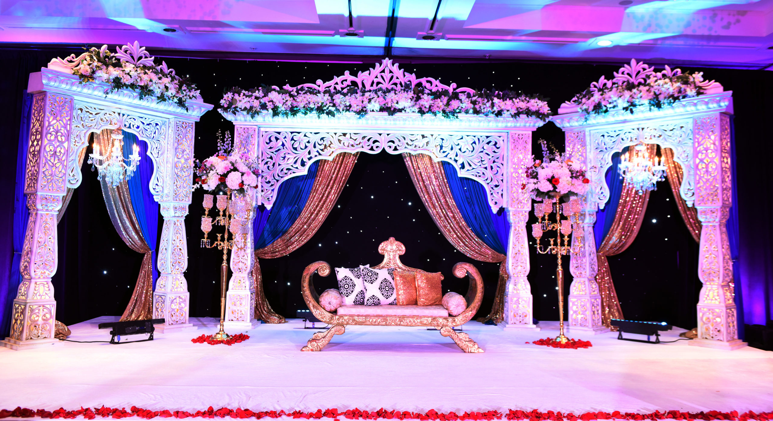 Jodha akbar mandap rental rentals atlanta dallas reception enagament LED backdrop